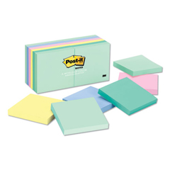 MMM654AST - Post-it® Original Pads in Marseille Colors