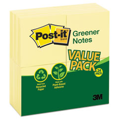 MMM654RP24YW - Post-it® Greener Notes Original Recycled Note Pads