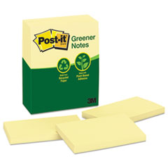 MMM655RPYW - Post-it® Greener Notes Original Recycled Note Pads