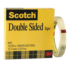 MMM665121296 - Scotch® 665 Double-Sided Office Tape