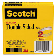 MMM6652P1236 - Scotch® 665 Double-Sided Office Tape