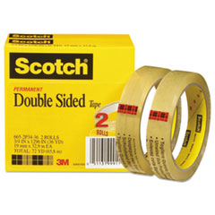 MMM6652P3436 - Scotch® 665 Double-Sided Office Tape