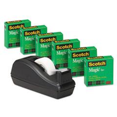 MMM810C40BK - Scotch® C40 Dispenser Plus Six Rolls Magic™ Tape