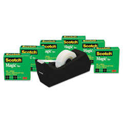 MMM810K6C38 - Scotch® Magic™ Tape 6 Roll Value Pack with C38 Dispenser