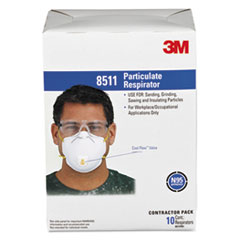 MMM8511 - 3M Particulate Respirators w/Cool Flow Exhalation Valve