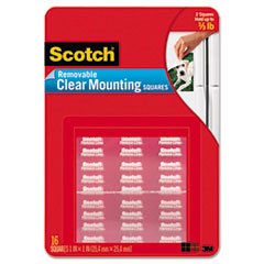 MMM859 - Scotch® Clear Mounting Squares, Removable