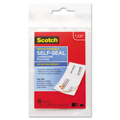 MMMLSR85110G - Scotch® Self-Sealing Laminating Pouches