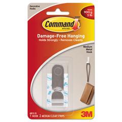 MMMMR12SSES - Command™ Decorative Hooks