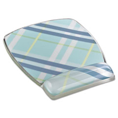 MMMMW308PL - 3M Fun Design Clear Gel Mouse Pad Wrist Rest