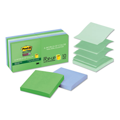MMMR33010SST - Post-it® Pop-up Recycled Notes in Bora Bora Colors