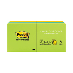 MMMR330AU - Post-it® Pop-Up Refills in Jaipur Colors