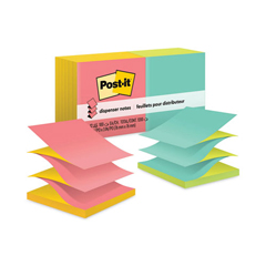 MMMR330NALT - Post-it® Pop-Up Refills, 3 x 3, Four Alternating Capetown Colors
