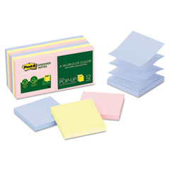 MMMR330RP12AP - Post-it® Greener Notes Original Recycled Pop-up Notes