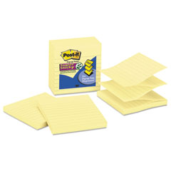 MMMR440YWSS - Post-it® Notes Super Sticky Canary Yellow Pop-up Notes