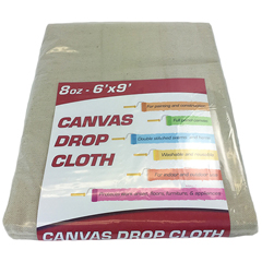 MNBDROP-6X9-8 - Monarch Brands - 8 oz. Drop Cloth, 6ft. x 9ft, Medium weight, Small Room Size