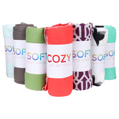 MNBFLEECE-POLAR-50X60 - Monarch Brands - Ultra Soft Fleece Throw Blanket