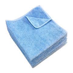 MNBM915100B - Monarch Brands - Blue Microfiber Cloth, 16 x 16, 49 gram, 1 Dozen