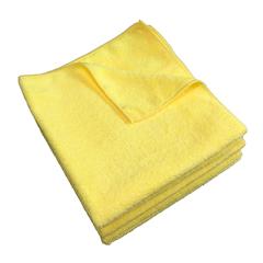 MNBM915100Y - Monarch Brands - Yellow Microfiber Cloth, 16 x 16, 49 gram, 1 Dozen