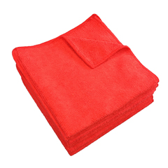 MNBM915107R - Monarch Brands - Red 16 x 16 Microfiber Cloth, 35 gram, 1 Dozen