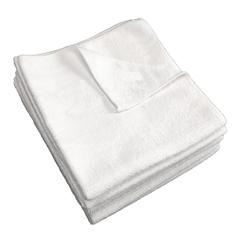 MNBM915107W - Monarch Brands - White 16 x 16 Microfiber Cloth, 35 gram, 1 Dozen