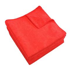 MNBM915112R - Monarch Brands - Red 12 x 12 Microfiber Cloth, 30 gram
