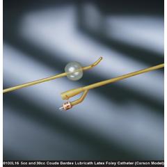 MON10001922 - Bard MedicalFoley Catheter Bardex Lubricath 2-Way Carson Model 30 cc Balloon 22 Fr. Hydrophilic Polymer Coated Latex