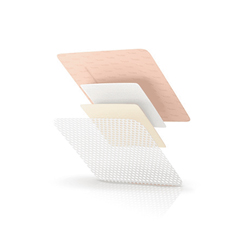 MON10102106 - Systagenix - Silicone Foam Dressing TIELLE™ 4 X 4 Inch Square Adhesive with Border Sterile