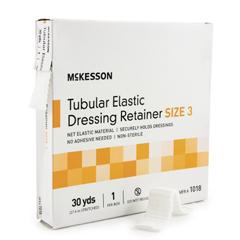 MON10182000 - McKessonRetainer Dressing Tubular Elastic Dressing Elastic Net 30 Yards Size 3