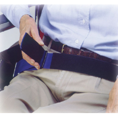 MON10203000 - Skil-Care - Wheelchair Safety Belt Econo-Belt Up to 50 Inch Waist Attaches with Slider Buckles