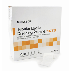 MON10232000 - McKessonRetainer Dressing Tubular Elastic Dressing Elastic Net 30 Yards Size 5
