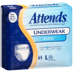 MON10303101 - AttendsAdult Absorbent Underwear Attends® Pull On Large Disposable Moderate Absorbency