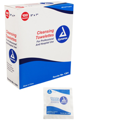 MON10311100 - DynarexPersonal Wipe Individual Packet Alcohol 100 per Pack