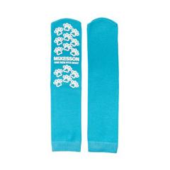 MON10691220 - McKessonSlipper Socks Medi-Pak® Performance Teal Above the Ankle, 96PR/CS