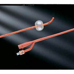 MON10811901 - Bard MedicalFoley Catheter Bardex I.C. 2-Way Olive Coude Tip 5 cc Balloon 18 Fr. Red Rubber