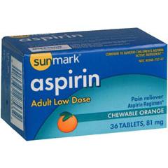 MON10842700 - McKessonPain Relief sunmark 81 mg Strength Tablet 36 per Box