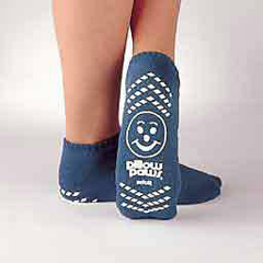 MON10941000 - PBESlipper Socks Pillow Paws Light Blue Ankle High