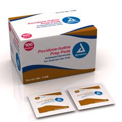 MON11082320 - DynarexPrep Pad Povidone Iodine, 10% Medium