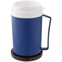 MON11084000 - Sammons PrestonDrinking Mug 12 oz. Hot / Cold Blue Polypropylene