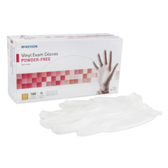 MON11101300 - McKessonExam Glove NonSterile Powder Free Vinyl Smooth Clear X-Small Ambidextrous