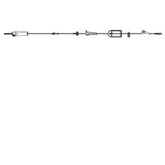MON11132800 - BDInfusion Set Alaris® 20 Drops / mL Drip Rate 2 Ports, 20 EA/CS
