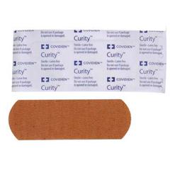 MON11142050 - Cardinal Health - Adhesive Bandage Curity™ Fabric 1 X 3 Strip, 50EA/BX