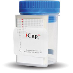MON11172401 - Alere - Drugs of Abuse Test iCup® A.D. 10-Drug Panel with Adulterants AMP, BAR, BZO, COC, mAMP/MET, MTD, OPI, OXY, PPX, THC, (CR, OX, pH) Urine Sample CLIA Moderate Complexity 25 Tests