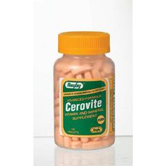 MON11202700 - Watson LaboratoriesMultivitamin with Iron Cerovite Tablet 130 per Bottle