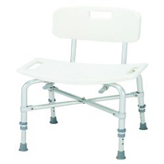 MON11223500 - Merits HealthBariatric Bath Bench Aluminum 14 - 20 Inch, 2EA/CS