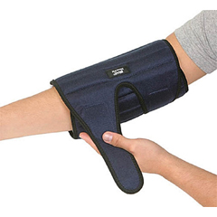 MON11723000 - Brown MedicalElbow Support IMAK RSI Universal Dual Hook and Loop Strap Closures Left or Right Elbow