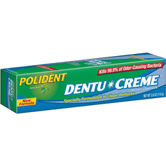 MON257612EA - Glaxo Smith Kline - Denture Cleanser Polident® Dentu-Creme™ Cream Mint - 3.9 oz