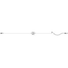 MON771369CS - ICU Medical - Extension Set Dial-A-Flo® 18 Tubing 1 Port 3 mL Priming Volume DEHP-Free, 50 EA/CS