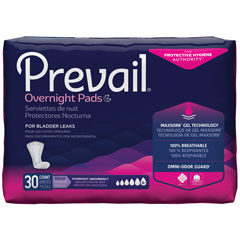 MON12003130 - First QualityPrevail® Bladder Control Pads for Women - Overnight, 30 EA/BG