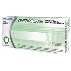 MON12011310 - McKessonExam Glove GENESIS NonSterile Powder Free Latex Smooth Ivory Medium Ambidextrous