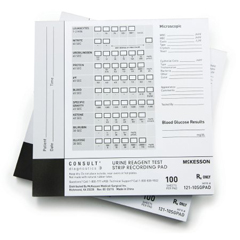 MON976928CS - McKesson - Urine Reagent Test Strip Recording Pad McKesson Consult For use with McKesson CONSULT® 10SG Urine Reagent Strips (MFR # 121-10SG)